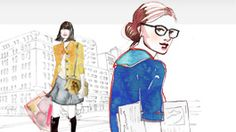 Just adore the sketch drawings on @dailycandy 's new site ...reminds me of a little image I know + love ;-)