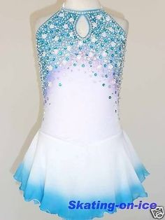 CUSTOM MADE TO FIT FIGURE ICE SKATING/ BATON/ TWIRLING COSTUME in Sporting Goods, Winter Sports, Ice Skating | eBay