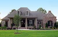 Roomy French Country Home Plan -////all bedrooms on first floor-bonus room upstairs!