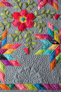 Ideas Applique Quilting Designs Fun For 2019 Longarm Quilting, Free Motion Quilting, Machine Quilting, Quilting Projects, Quilting Designs, Quilting Patterns, Quilting Ideas, Jelly Roll Quilt Patterns, Applique Patterns