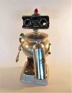 Baby Bot.  Found object Robot Assemblage