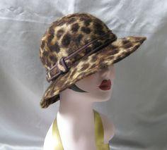 Vintage Leopard Animal Print Wool Fur Felt by Susansfavourites, $17.50