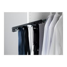 """Tie storage that wouldn't take up wall space. (KOMPLEMENT Pull-out multi-use hanger - 22 7/8 """" - IKEA)"""