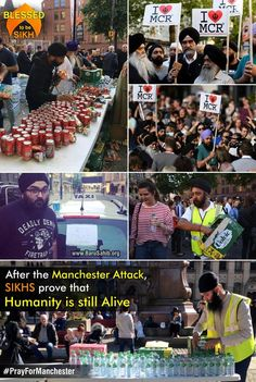 #PrayForManchester  After the Manchester Attack, SIKHS prove that Humanity is still Alive  From Food to Shelter to Free Taxi Services, Sikhs have been doing it all to show their solidarity with the people of Manchester.  They were met with applause & praises from the people of Manchester when they combined with the general public for the vigil.  Share & Spread!