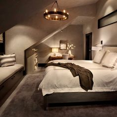 Contemporary Bedroom Interior Design Idea Applied in Master Bedroom Paint Colors finished with White Bedding Unit Design Plan Modern Master Bedroom, Trendy Bedroom, Contemporary Bedroom, Zen Bedrooms, Vintage Light Bulbs, Bedroom Windows, Bedroom Paint Colors, Bedroom Lighting, My New Room