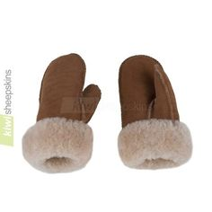Sheepskin mittens made from lambskins for softness - click to enlarge