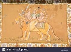 Image result for rajasthani paintings of durga