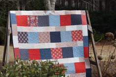 Fast and Fun. Layer Cake Quilt Patterns, Layer Cake Quilts, Homemade Quilts, Grant Park, How To Express Feelings, Patriotic Quilts, Cake Images, Quilted Pillow, Handmade Art