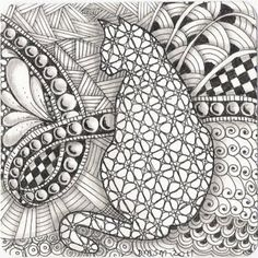 My Stamping Place - cat zentangle