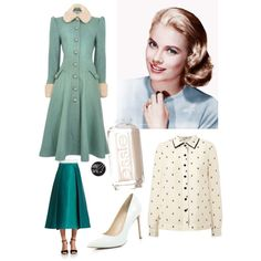 A fashion look from February 2015 featuring Orla Kiely blouses, 424 Fifth skirts and River Island pumps. Browse and shop related looks.