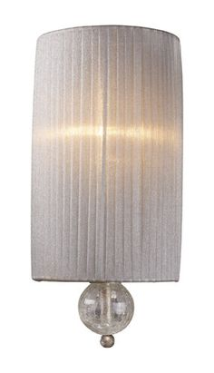 ELK Lighting 20005-1 Alexis One Light Sconce In Antique Silver