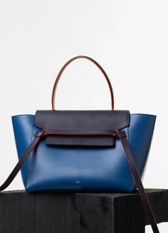 MINI BELT BAG IN NAVY NATURAL CALFSKIN - Spring / Summer Runway 2015 collections - Handbags | CÉLINE