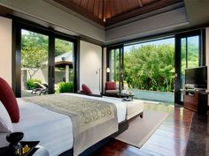 Banyan Tree in Bali, Indonesia. Room and view details.