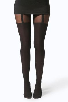 BOOHOO HANNAH MOCK SUSPENDER TIGHTS -  BOOHOO HANNAH MOCK SUSPENDER TIGHTS Complete the look with a pair of tights. From simple figure-flattering black to embellishment and prints tights are a wardrobe essential for the winter. Sexy suspender styles are a key look and ribbed materials give any outfit a cosy but cool edge. Glitter and diamante details are also bang on trend. Stock up on colours too ? tights are so versatile that they?re perfect for creating a laidback look or a glammed-up…