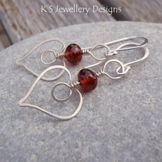Wire Jewelry Tutorial HAMMERED HEARTS by KSJewelleryDesigns