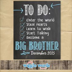 Big Brother Announcement Pregnancy Announcement by WiggleWords