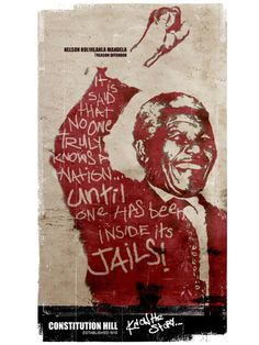 Know the Story by sindiso nyoni, via Behance, from Johannesburg, South Africa Nelson Rolihlahla Mandela poster series for the constitution hill, south africa. posters are based on historical political prisoners held at the old fort prison complex, which now houses south africa's constitution court.