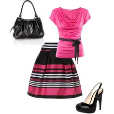 """""""PINK! :D"""" by bethanyannc14 on Polyvore"""