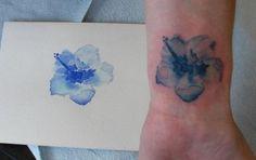 gladiolus watercolor tattoo