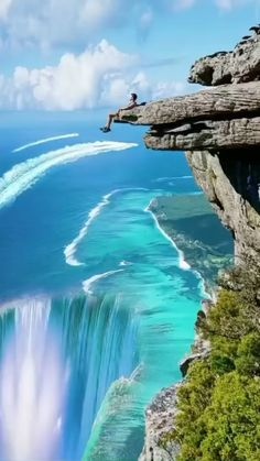 paradise.global on Instagram: Mind blowing Mauritius 🇲🇺🤩 The beautiful underwater waterfall, an optical illusion, is located near the shores of Le Morne Brabant in the… Beautiful Photos Of Nature, Beautiful Nature Wallpaper, Beautiful Places To Travel, Nature Photos, Beautiful Landscapes, Cool Places To Visit, Beautiful Waterfalls, Amazing Nature, Beautiful Scenery