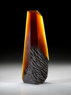 """Alex Bernstein. """"Crystal Growth Amber"""". Glass and Fused Metal."""