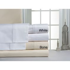Pointehaven 1000 Thread Count Pima Cotton Sateen Sheet Set | Overstock.com Shopping - The Best Deals on Sheets