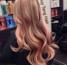 salmon colored blonde hair - Google Search