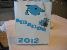 Gift bag made by my girlfriend laurie for my daughters graduation party