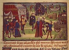Miniatures et enluminures  Titre :  Le Livre des Conquestes et Faits d'Alexandre  Description :  Milieu 15e siècle