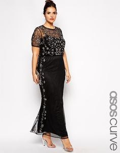ASOS CURVE –  RED CARPET – Hübsches, verziertes Maxikleid