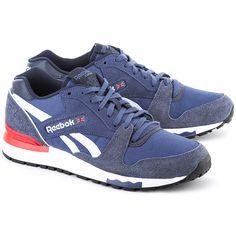 REEBOK GL 6000 Nd - Granatowe Canvasowe Sportowe Męskie #mivo #mivoshoes #shoes #buty #reebok #men #navyblue #color #kolor #run #sport #active #fashion #new #collection #spring #summer #2016