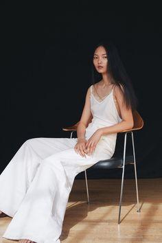 Elle Magazine UK June 2017: Clean Slate Model: Ling Chen Photographer: Nadia Ryder Fashion Editor: Sophie van der Welle Hair Stylist: Maki Ta