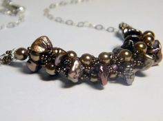 Bronze Goddess Keshi Pearl Necklace by WhimsyBeading, $45.00