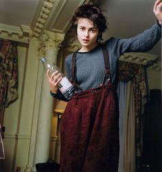 Helena Bonham Carter with a pixie cut! I am thinking about getting one!