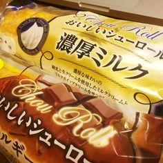 [Pasco] おいしいシューロール 濃厚ミルク、ベルギーチョコ-フォトレタッチ(プリプレスレタッチ) Nihon, It Works, Japan, Candy, Food, Essen, Meals, Sweets, Nailed It