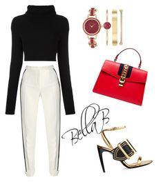 """""""Date night inspo"""" by banbangotit on Polyvore featuring Anne Klein, Burberry, Elie Saab, Valentino and Gucci"""