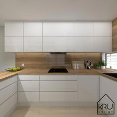 Project scope: kitchen 2 versions of KRU Design Kitchen Room Design, Kitchen Cabinet Design, Modern Kitchen Design, Home Decor Kitchen, Kitchen Living, Interior Design Kitchen, Home Kitchens, Kitchen Ideas, Modern Kitchen Cabinets