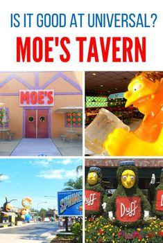 Moe's Tavern at Universal Studios | Universal Orlando Resort | Theme Park | Orlando | Florida | Amusement Park Universal Studios Florida, Universal Orlando, Orlando Theme Parks, Orlando Florida, Disney World Resorts, Walt Disney World, Island Of Adventure Orlando, Minion Mayhem, Disney Food