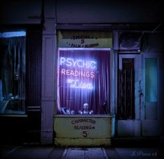 Psychic Readings By Lisa is a small 24 hour psychic reading shop run by an old witch named Lisa. Echo also works here.
