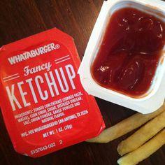 Whataburger ketchup has a unique flavor! I like it!