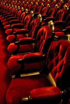 Red | Rosso | Rouge | Rojo | Rød | 赤 | Vermelho | Color | Colour | Texture | Form | Theater seats.
