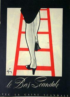 Affiche Le Bas Scandale - France - 1950 - illustration de René Gruau