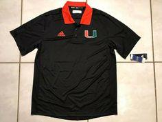NWT ADIDAS Miami Hurricanes BLACK Polo Shirt Men's Large  | eBay Black Polo Shirt, Miami Hurricanes, Polo Ralph Lauren, Adidas, Mens Tops, Ebay, Fashion, Moda, Fashion Styles