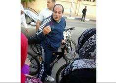 Oh reasonable Jad'aan de Sisi passenger wheel and sports uniforms on the streets of Cairo