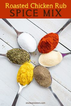 } - Six Clever Sisters , < Roasted Chicken Rub Spice Mix {bold, warm flavors!} - Six Clever Sisters. Roast Chicken Rub, Roasted Chicken, Baked Chicken, Grilling Chicken, Recipe Chicken, Chicken Recipes, Spatchcock Chicken, Chicken Dips, Chicken Meals