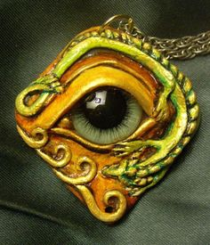The Dragon's Eye Pendant by mistyscreations on Etsy