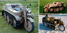 Kettenkraftrad type HK 101 was a tracked motorcycle developed in summer 1939, as a fast vehicle capable of moving small loads in mountainous terrain. The vehicle was used to lay cables, tow heavy guns and was frequently used to combat the snow and mud of the Eastern Front by the stinking Nazis