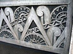 Art Deco pewter (?) detail, Buffalo