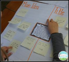 A Quick and Easy Main Idea Activity for small groups to do with your main idea task cards, from Teaching with a Mountain View <<<<Gallery walk with this for middle school Reading Lessons, Reading Skills, Teaching Reading, Reading Strategies, Guided Reading, Reading Groups, Reading Centers, Literacy Centers, Math Lessons