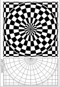 Op Art Vasarely Source by paulascrafts Optical Illusion Quilts, Art Optical, Optical Illusions, Illusion Kunst, Illusion Art, Doodle Patterns, Zentangle Patterns, Op Art Lessons, Opt Art